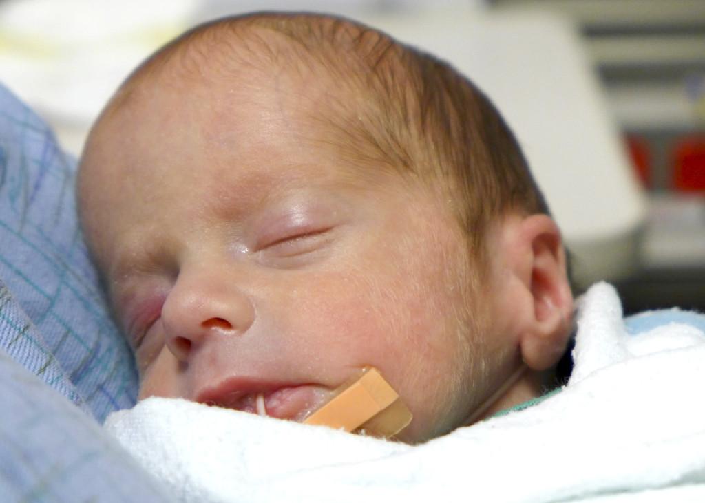 Spencer asleep close-up